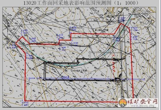 杨村煤矿铁路下采煤地表岩移规律的技术研究