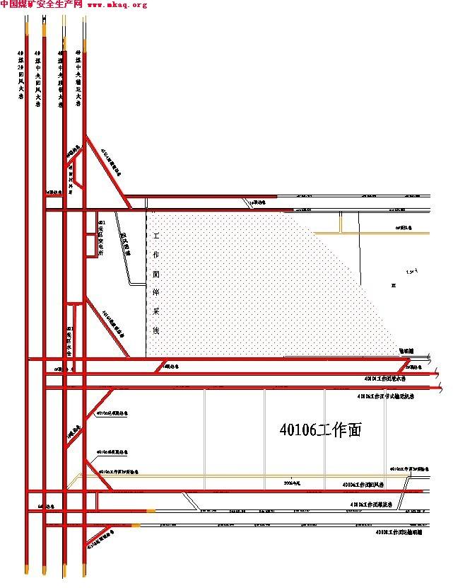 煤矿井下水泵房结构图