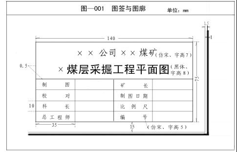 矿井11种图纸绘制标准及要求
