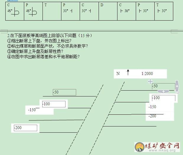 中国矿业大学《煤矿地质学》试卷及参考答案二