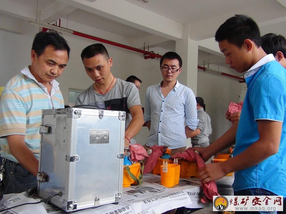 船景公司:集中校验员工自救器-中国煤矿安全生产网
