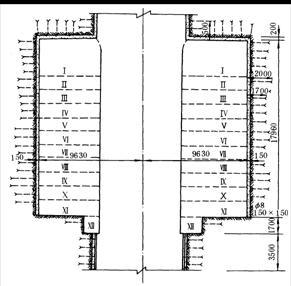 交岔点按其结构又可分为柱墙式交岔点和穿尖交岔点(图9-38).