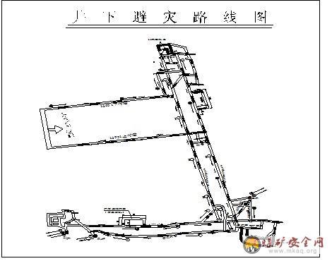 采煤采区平面图1; 井下紧急避险系统初步设计说明书