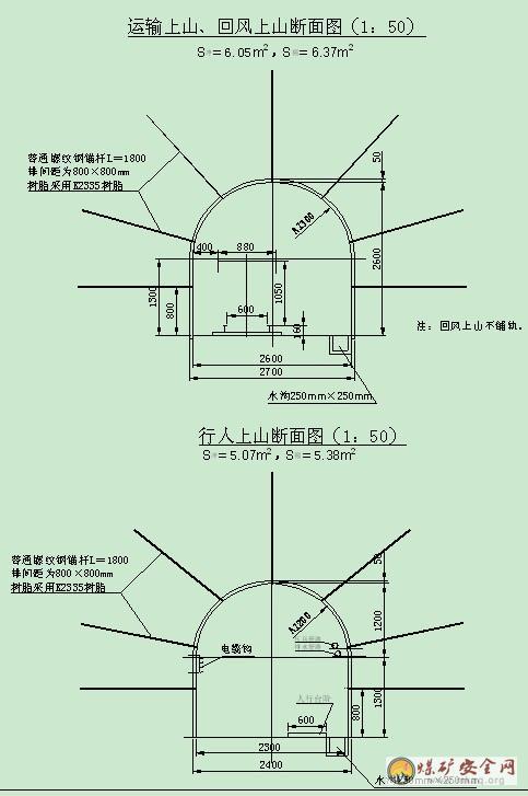 中国煤矿安全生产网 设计说明 矿井基建 正文内容