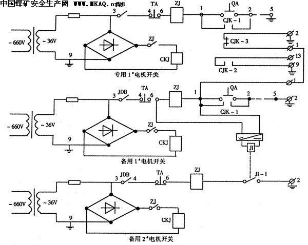 bsp;自动切换开关接线图